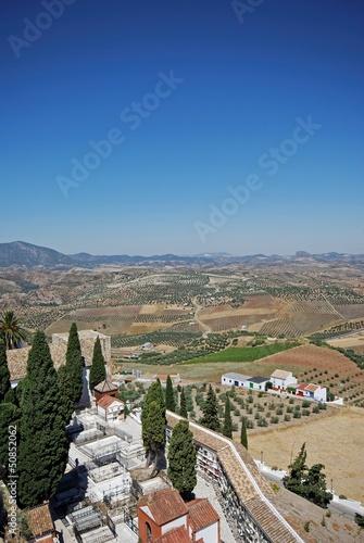 Fotografía  Cemetery and countryside, Olvera, Spain © Arena Photo UK