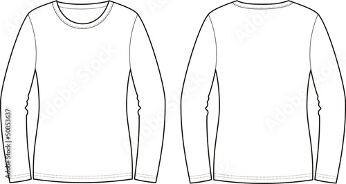 фотография Vector illustration of jumper. Front and back views