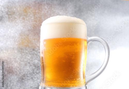Photo sur Toile Biere, Cidre ビール ジョッキ泡