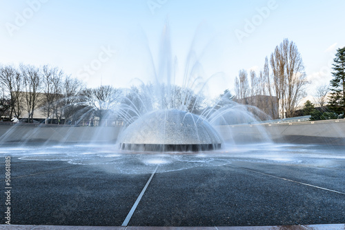 Photo sur Toile Fontaine park fountain