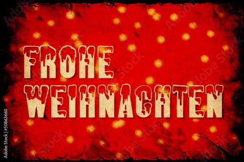 Foto op Plexiglas Vintage Poster Retroplakat - Frohe Weihnachten