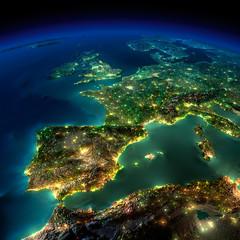 Fototapeta Europa z kosmosu
