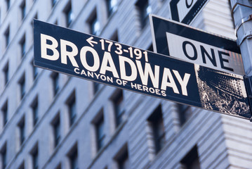 Broadway Sign New York City