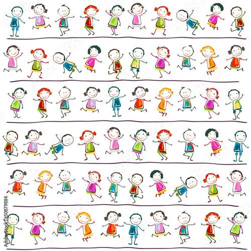 Foto-Lamellen (Lamellen ohne Schiene) - happy children (von dip)