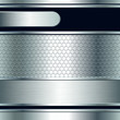 Abstract background, metallic silver banners