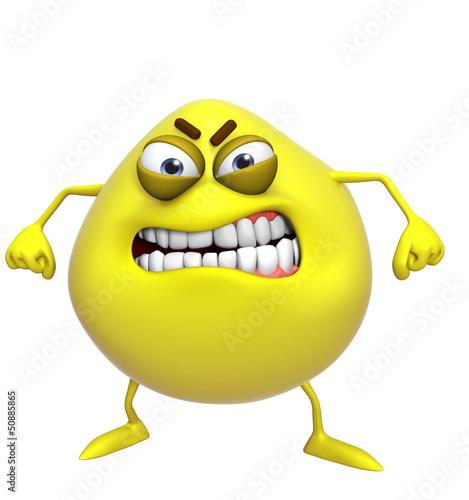 Garden Poster Sweet Monsters 3d cartoon cute yellow monster