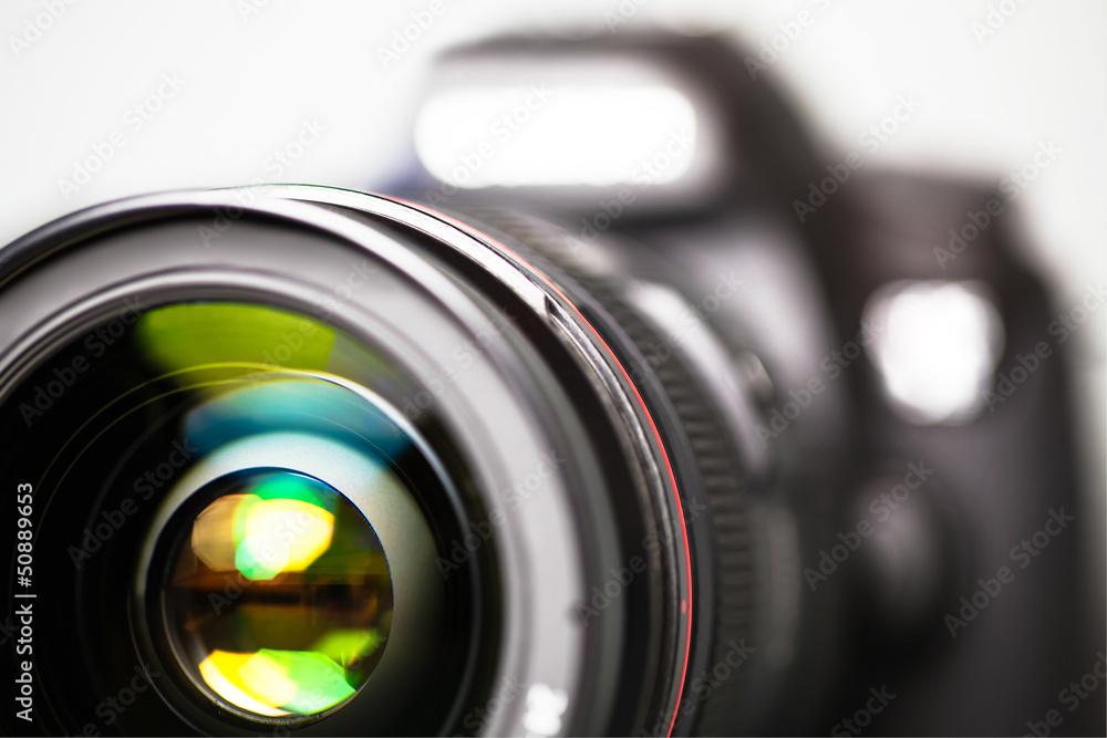 Fototapety, obrazy: Digitale Spiegelreflex-Kamera - Vorderansicht