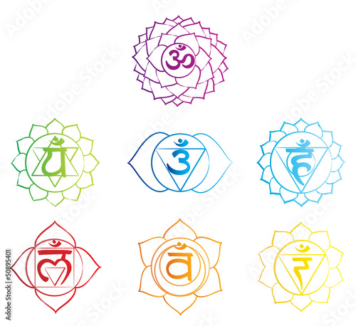 Fotografie, Obraz  Chakra Symbol