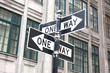 USA - One way direction (New York City)