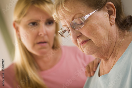 Poster Attraction parc Young Woman Consoles Senior Adult Female