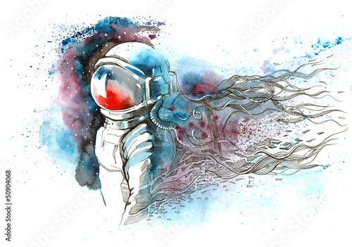 Fotografie, Obraz  astronaut