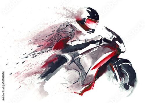 motorcycle racer #50904086