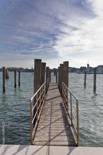 Fotobehang Pier passerella venezia