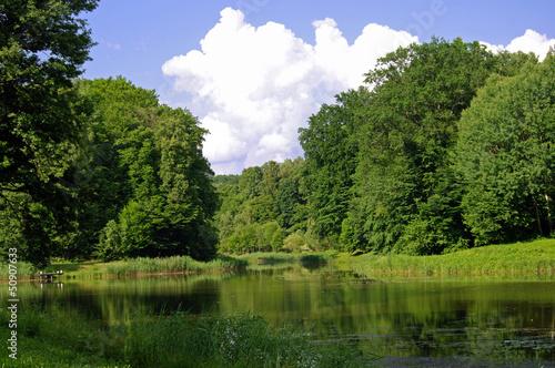 Fototapeta Nad jeziorem obraz na płótnie