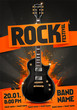 Vector Illustration Orange Rock Music Festival Poster Template