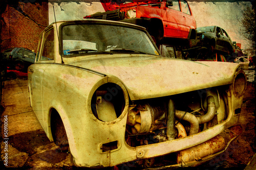 Retroplakat - Trabant Canvas Print