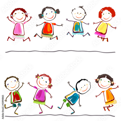 Foto-Stoff - happy children (von dip)