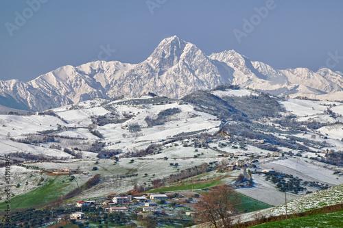 Obraz na płótnie Gran Sasso Mountains