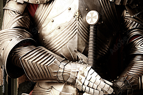 Close up of armor Fototapet