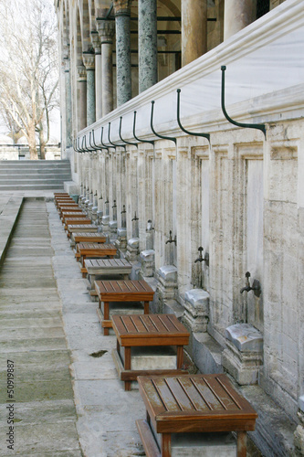 Fototapeta  Brunnen für rituelle Waschungen im Islam