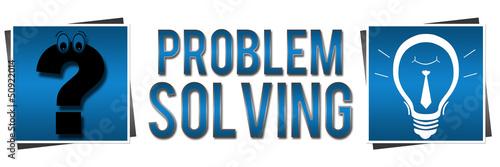 Fotografía  Problem Solving Blue Banner