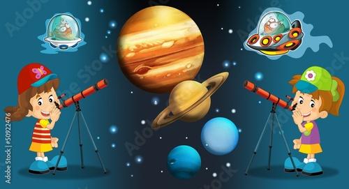 Cadres-photo bureau Cosmos The aliens theme- ufo - for kids