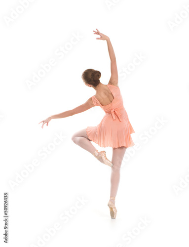 8f00d624f278 Young beautiful ballet dancer isolated over white background - Buy ...