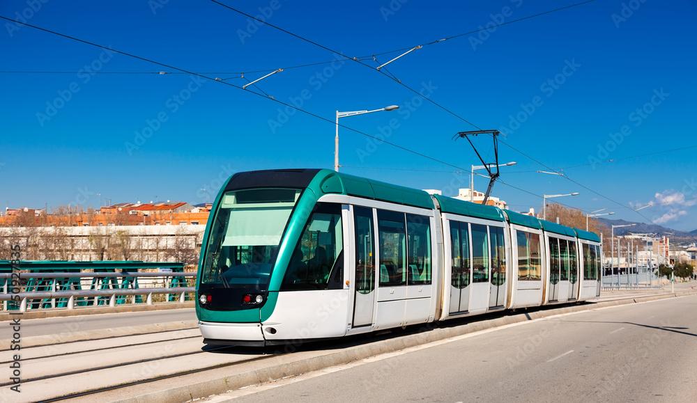 Fototapety, obrazy: tramway going over  bridge