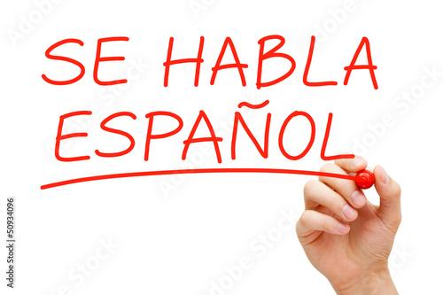 Αφίσα  Se Habla Espanol
