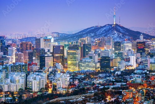 Fotobehang Seoel City of Seoul Korea