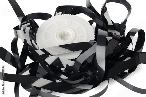 Fotografija  Pile of videotape reels