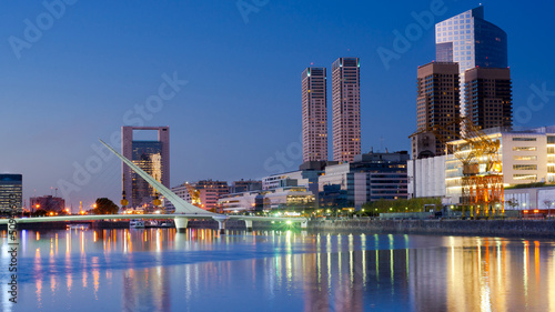 Photo sur Toile Buenos Aires Buenos Aires, Puerto Madero at Night