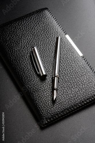 Fotografie, Obraz  Card holder, fountain pen