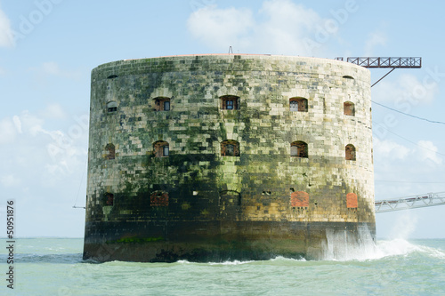 In de dag Vestingwerk Fort Boyard in France