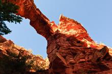 Below Devil's Bridge Sedona Arizona Side View