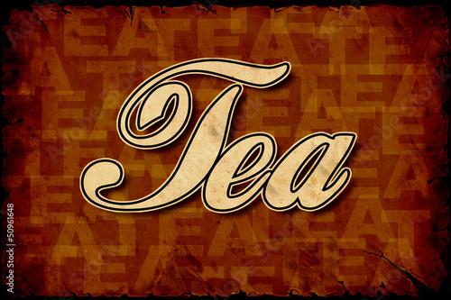 Foto op Plexiglas Vintage Poster Retroplakat - Tea