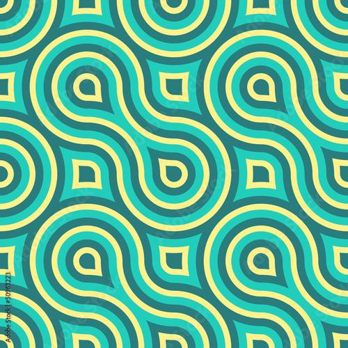 Geometric Seamless Pattern Wallpaper Mural