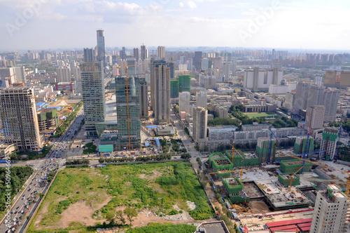 Fotografie, Obraz  Shenyang City Skyline Aerial view, Liaoning Province, China