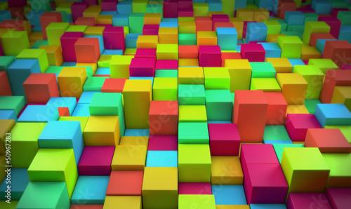 Streszczenie kolorowe kostki