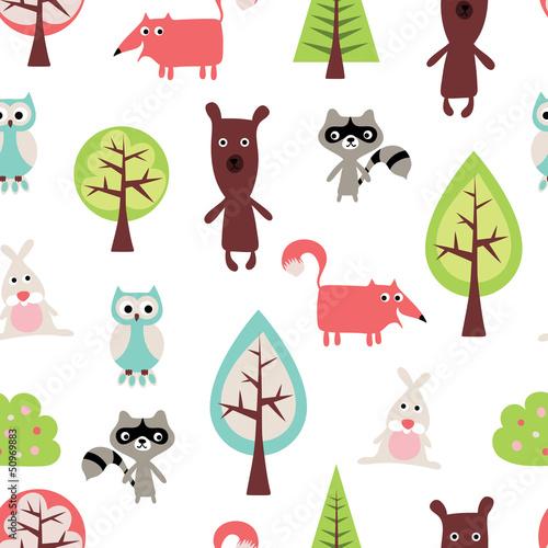 Wzór ładny zwierząt