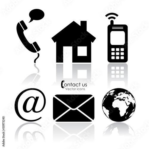 Fotografía  Vector contact icons