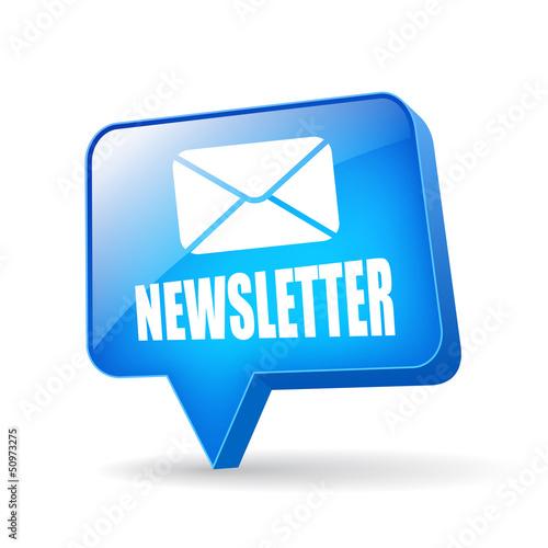 Fotografía  Vector newsletter glossy icon
