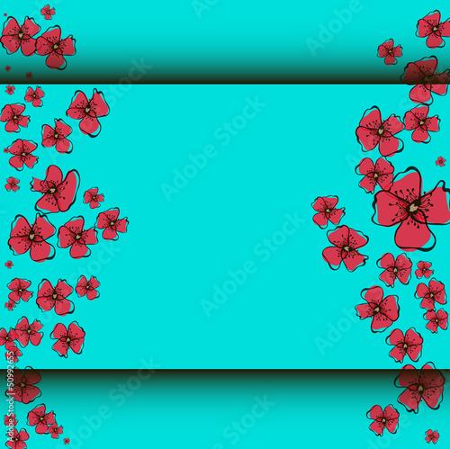 Tuinposter Abstract bloemen Poppy Pattern
