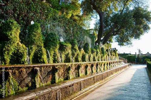 Fotografie, Obraz  Cento fontane and corridor in Villa D-este at Tivoli - Rome