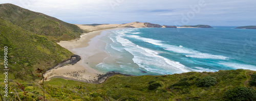 Tuinposter Nieuw Zeeland Northland sand beach near Cape Reinga New Zealand
