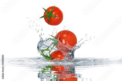 Foto op Canvas Opspattend water Gemüse 158