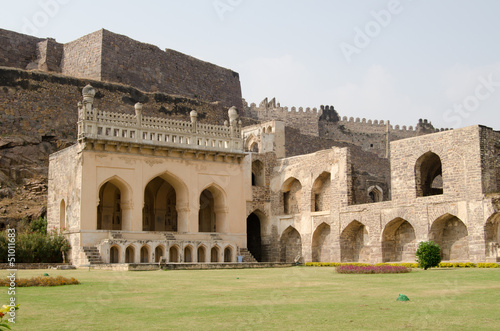 Golkonda fort lawn, India Canvas Print