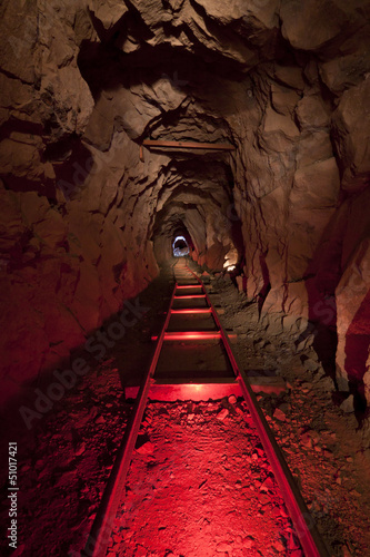 Red Gold Mine Tablou Canvas