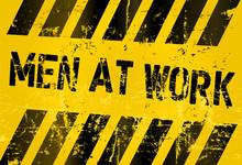 Men At Work Sign,vector Illustration