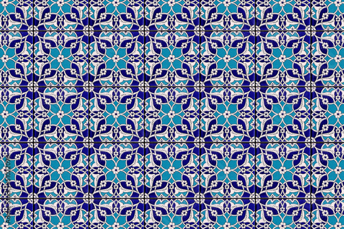Fotografia  Tiles of blue mosque in istanbul - Ottoman decoration for wall